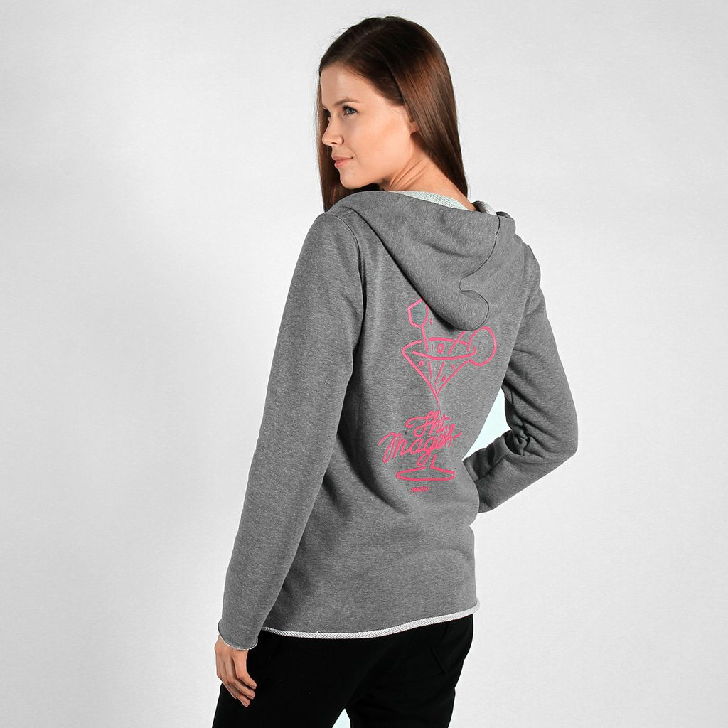 ZIPHOODY COCTAIL MEDIUM HEATHER GREY