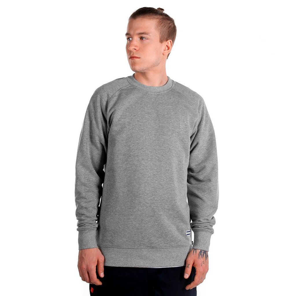 SWEATSHIRT DEEP MEDIUM HEATHER GREY