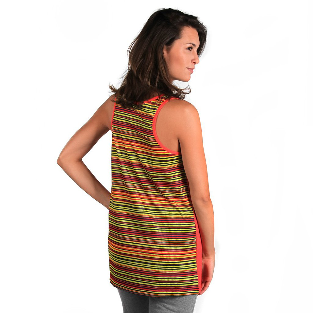 TANKTOP STRIPE RUBI RED