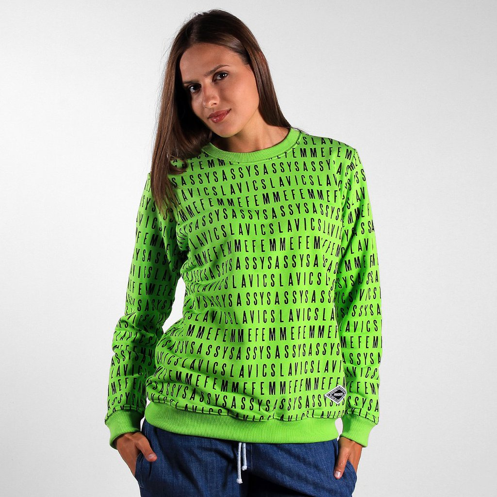 SWEATSHIRT TYPE FLUO GREEN