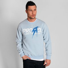 ST SWEATSHIRT SCARY LIGHT HEATHER BLUE