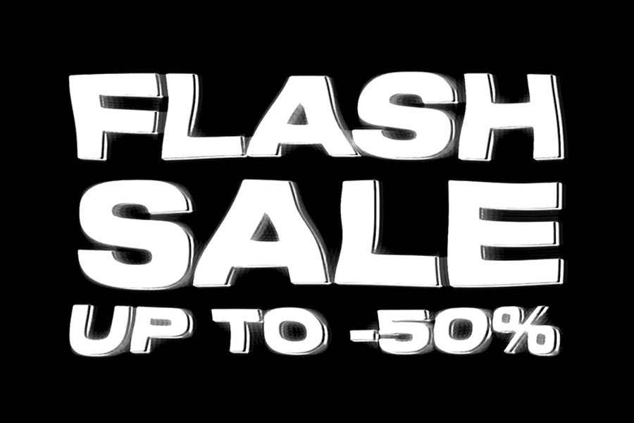 Flash sale up to -50%