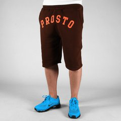 ST SHORT SWEAT FRONT BROWN