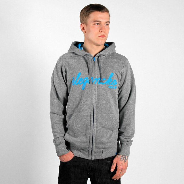 ZIPHOODY HANDWRITE MEDIUM HEATHER GREY