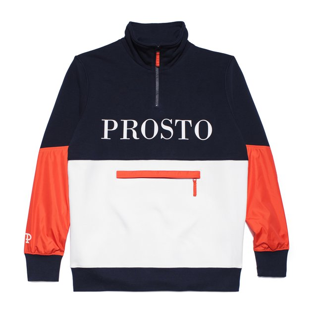 HALF ZIP SWEATSHIRT WE GOT IT NAVY