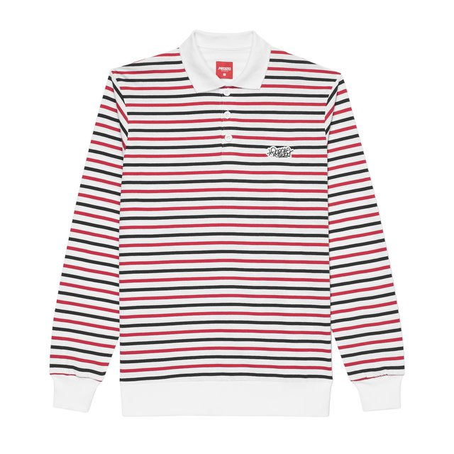 LONG POLO STRIPTAG WHITE