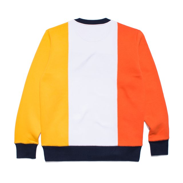 CREWNECK ROYAL DRAFT RED/YELLOW