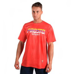 ST TSHIRT FURROWED RUBY RED