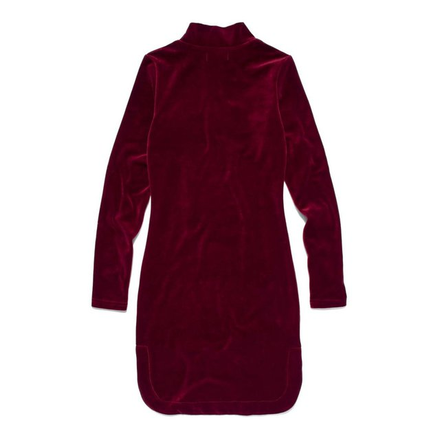 HIGH NECK DRESS OSLO MAROON
