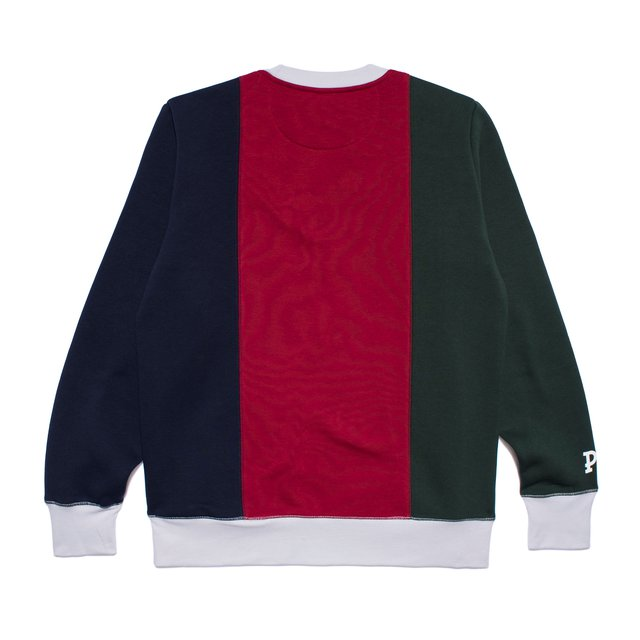 CREWNECK ROYAL DRAFT GREEN/NAVY