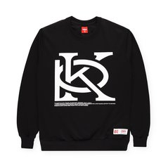 CREWNECK MONORAM BLACK