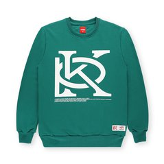 CREWNECK MONORAM DARK GREEN
