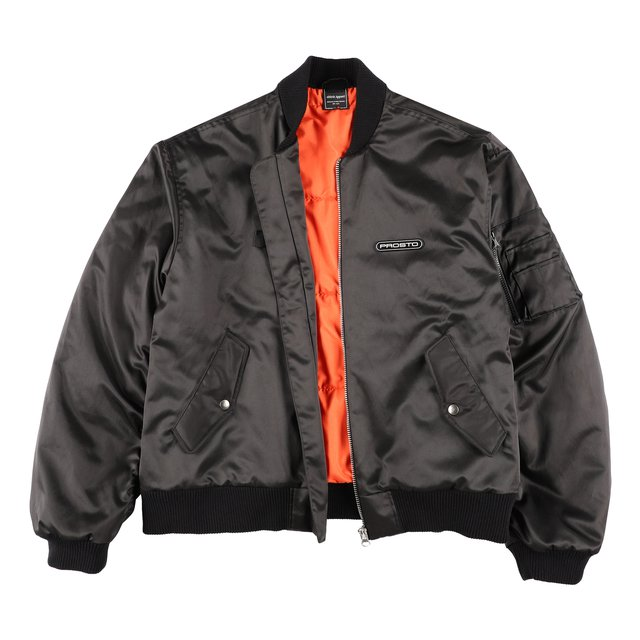 BOMBER PUFFER JACKET BLACK