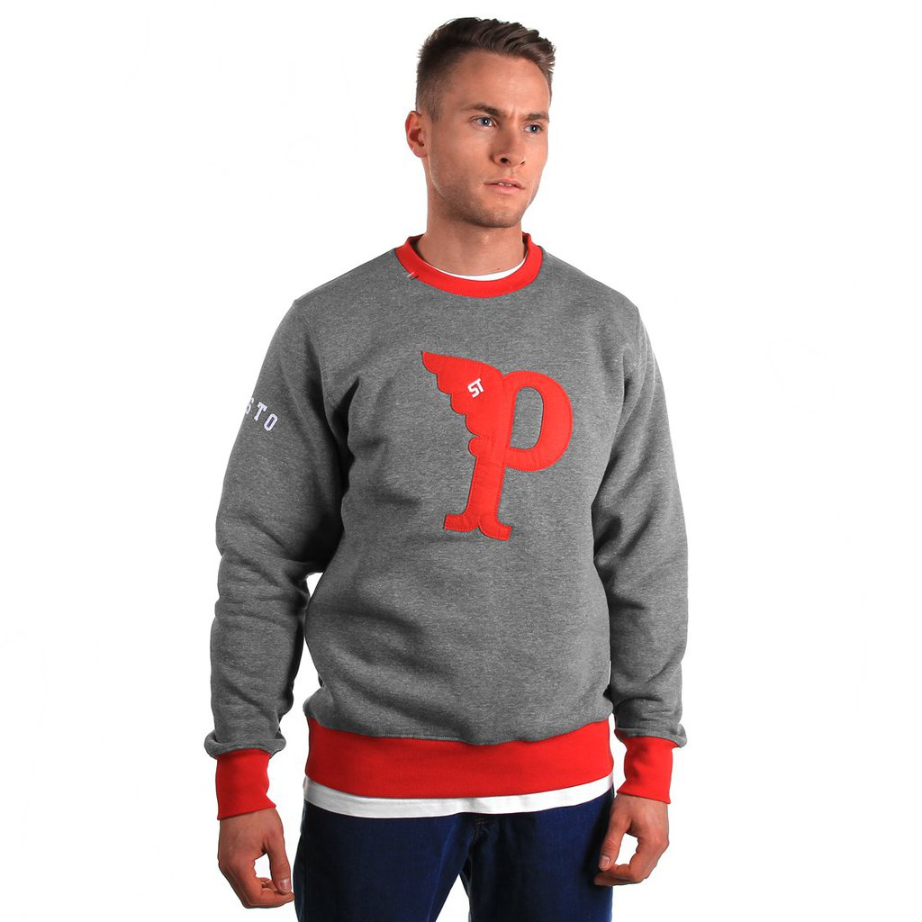 SWEATSHIRT FLY MEDIUM HEATHER GREY