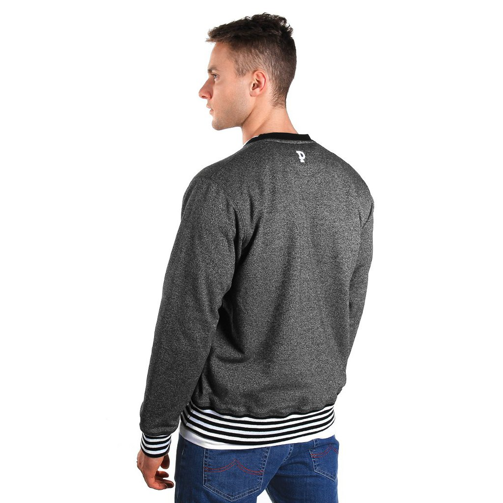 SWEATSHIRT ARIAL PEPPER HEATHER GREY