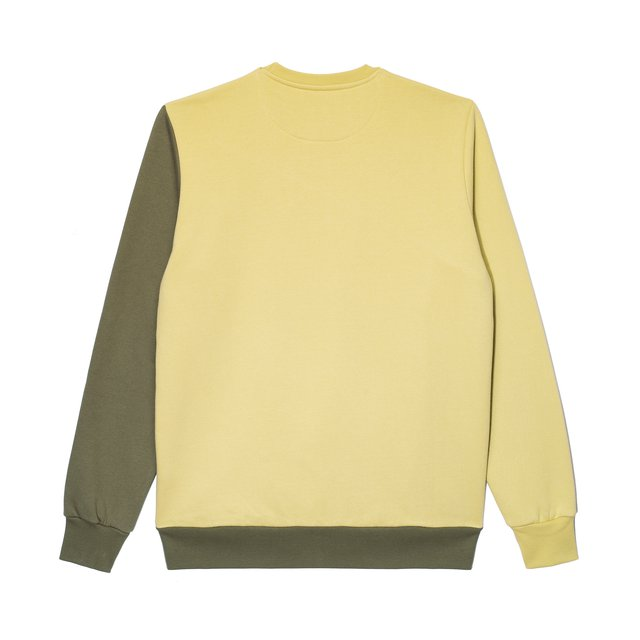 CREWNECK SLANT OLIVE/LIGHT GREEN