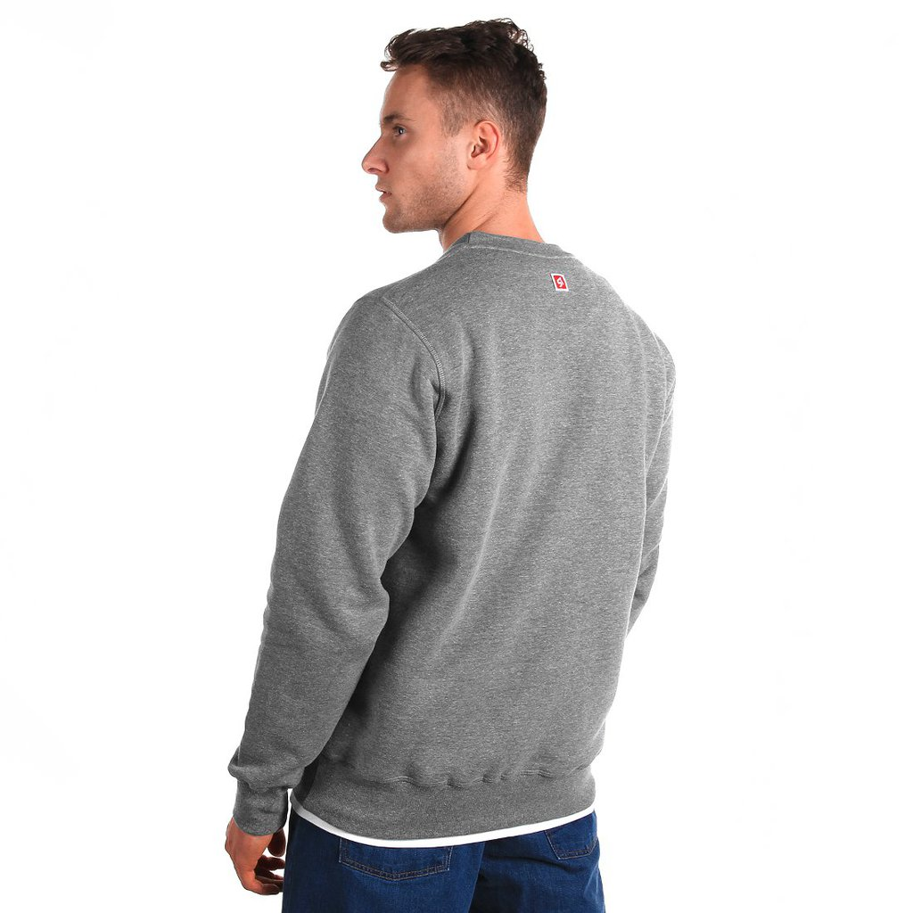 SWEATSHIRT BL STAIRS MEDIUM HEATHER GREY