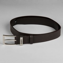 KL BELT LEATHER KL BROWN